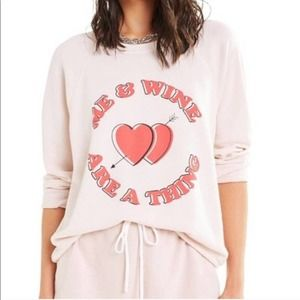 [Wildfox] Me & Wine Are A Thing Baggy Beach Jumper